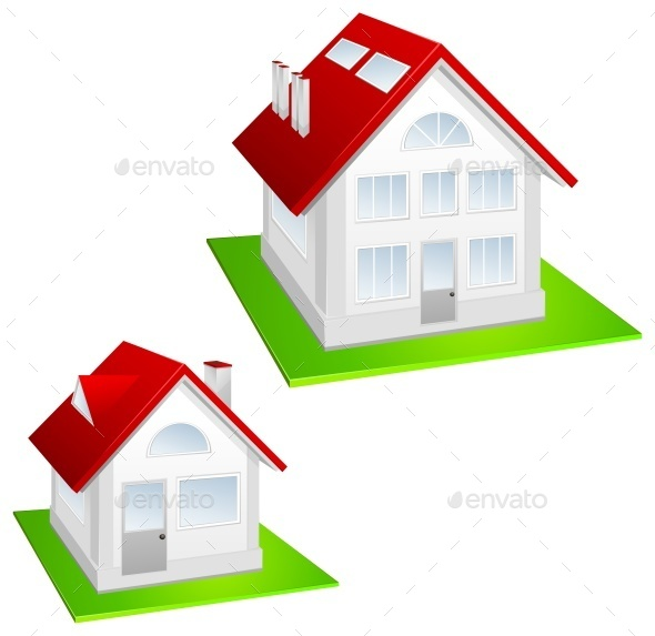 Model of Cottage - Buildings Objects