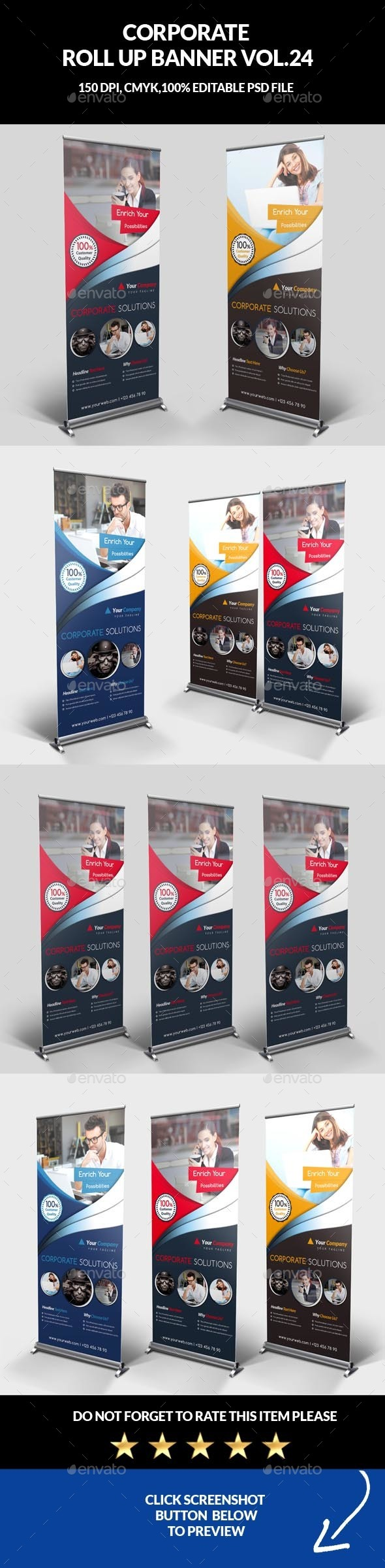 Corporate Business Roll Up Banner Vol.24 - Signage Print Templates