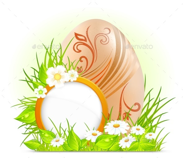Egg with Flowers  - Animals Characters