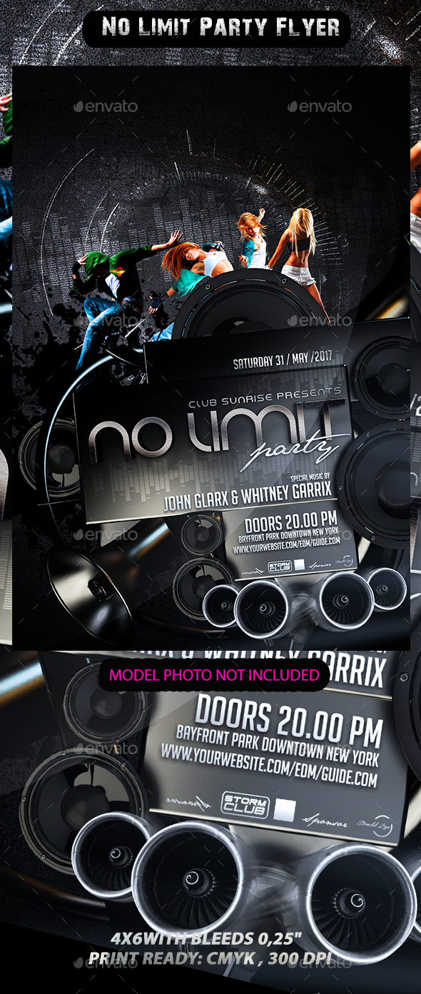 No Limit Party Flyer - Events Flyers
