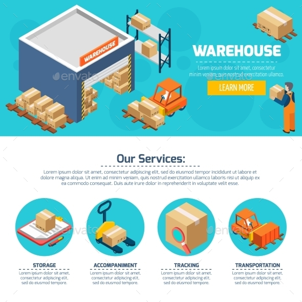 Warehouse Web Site - Services Commercial / Shopping
