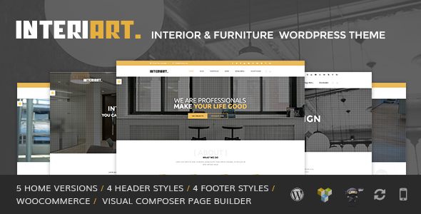 InteriArt – Furniture & Interior WordPress Theme