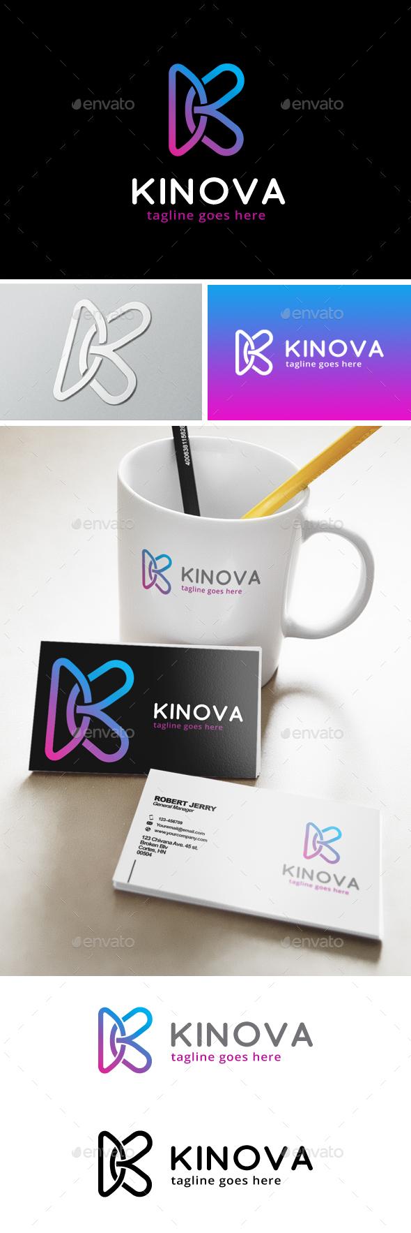 Kinova Letter K Logo - Letters Logo Templates