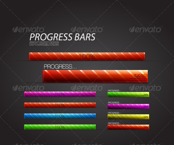 Glossy progress bar - Technology Conceptual