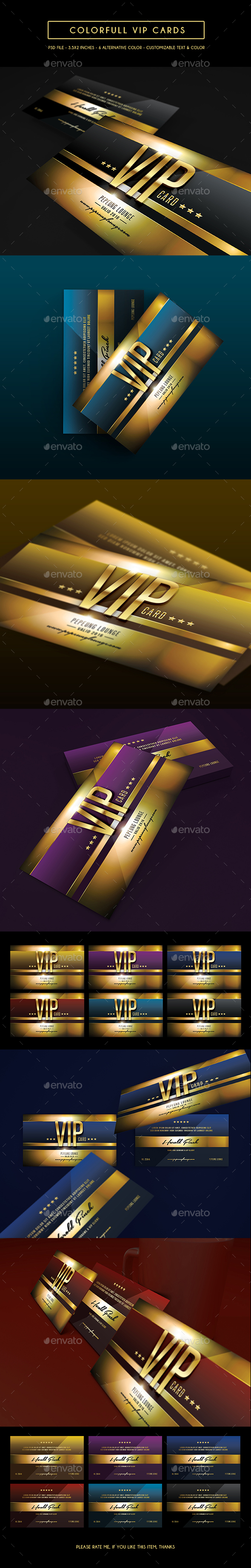 Multipurpose Colorfull Vip Card - Business Cards Print Templates