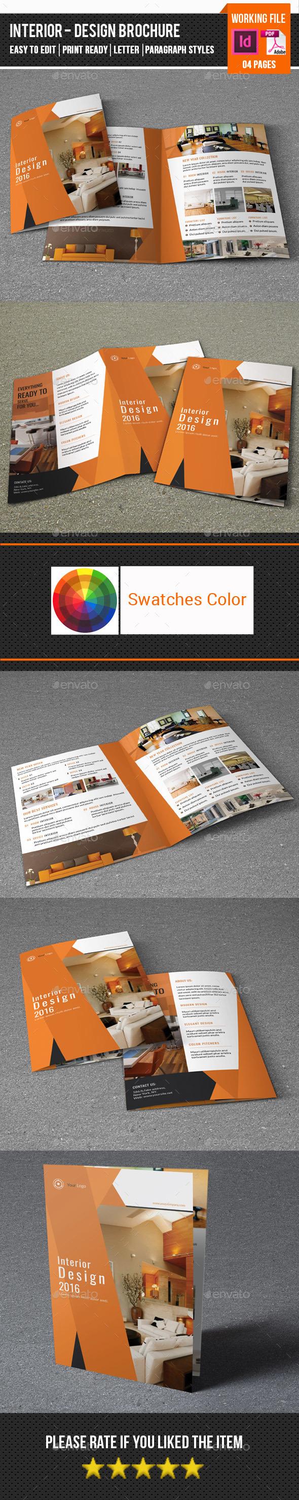 Interior Design Brochure-V343 - Corporate Brochures