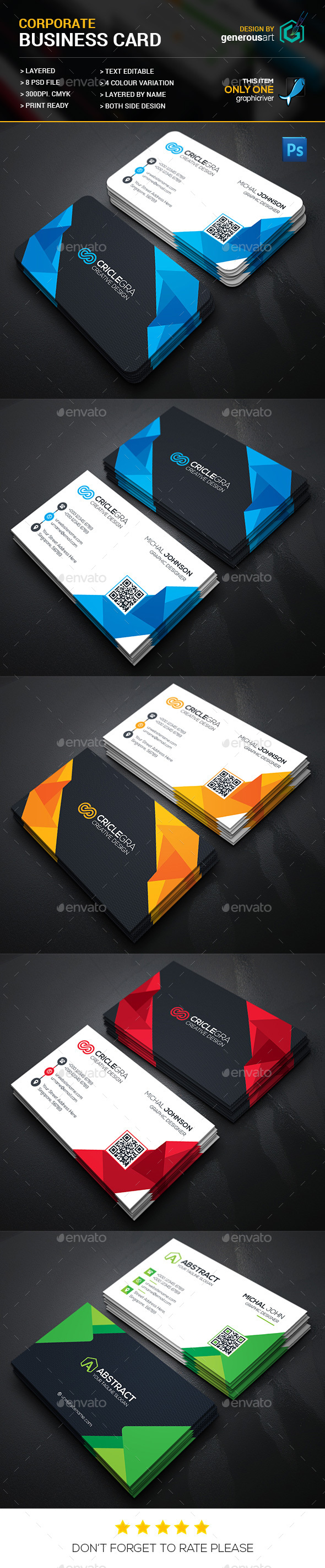 Cool Creative Business Card - Corporate Business Cards