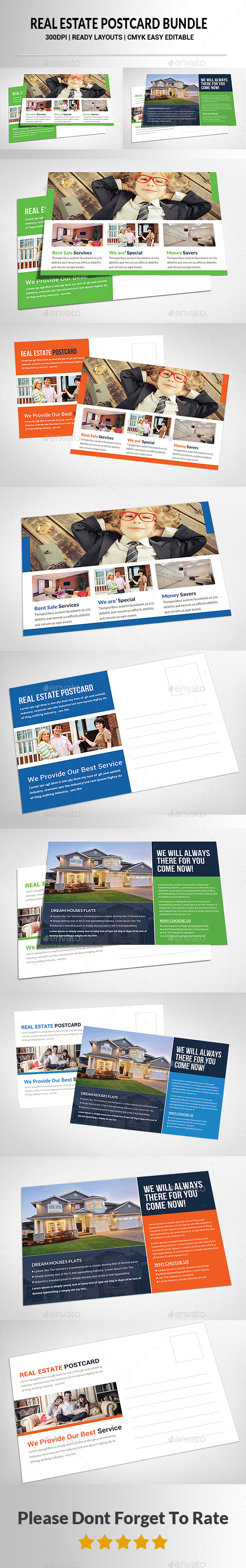 Real Estate Postcards Bundle - Corporate Flyers