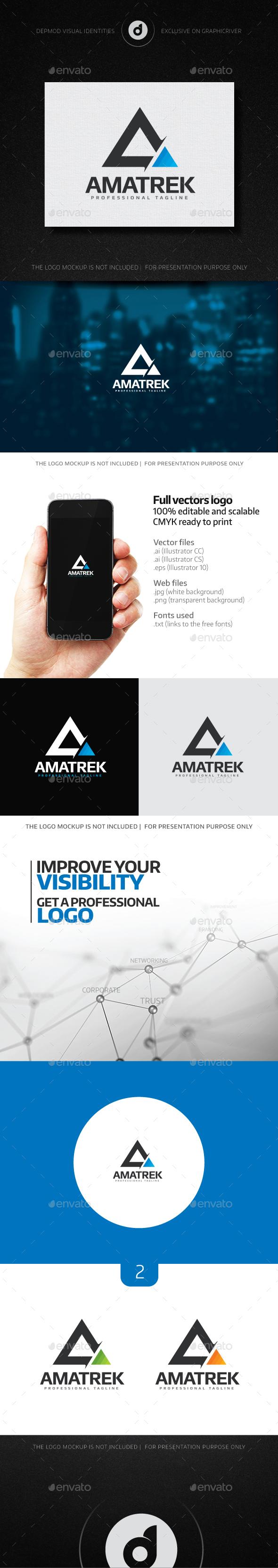 Amatrek Logo - Letters Logo Templates