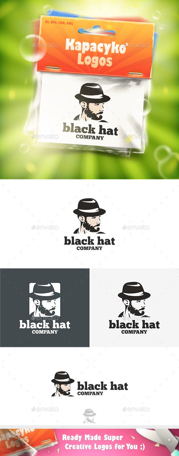 Black Hat Logo - Humans Logo Templates