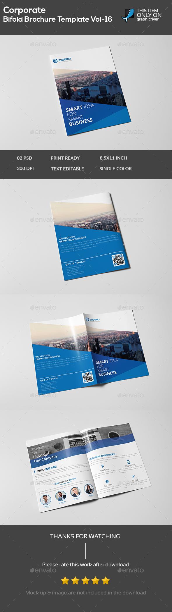 Corporate Bifold Brochure template vol-16 - Brochures Print Templates