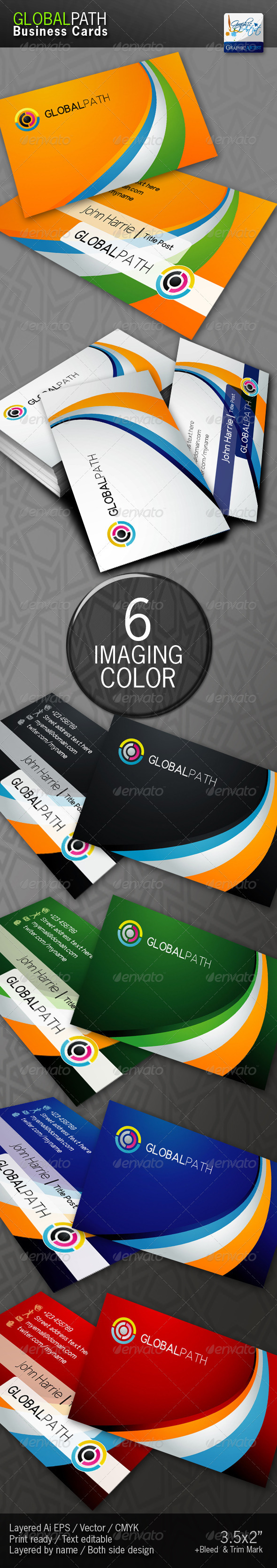GlobalPath Business Cards - Corporate Business Cards