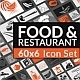 Food & Restaurant Icons - GraphicRiver Item for Sale