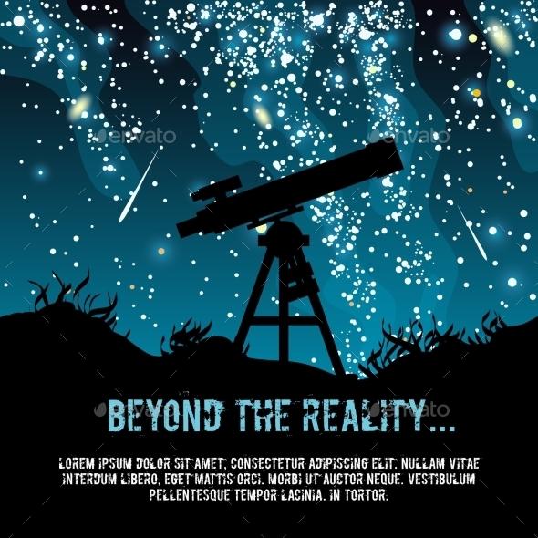 Astronomy Poster - Web Elements Vectors