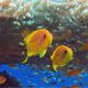 Colorful Fishes with Table Coral and Divers Bubbles - VideoHive Item for Sale