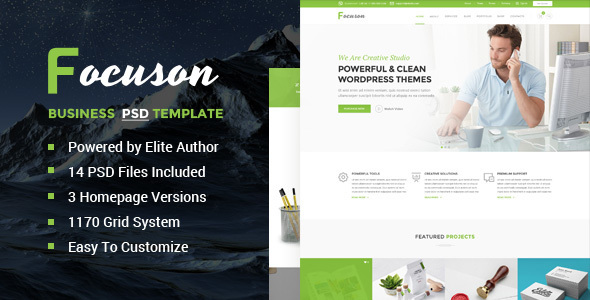Focuson – Business PSD Template
