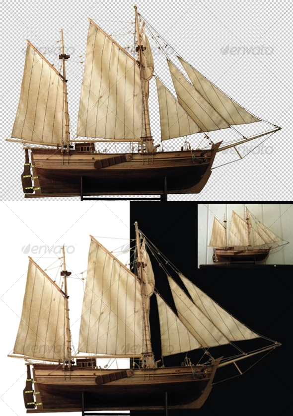 Sailing Ship - Activities & Leisure Isolated Objects