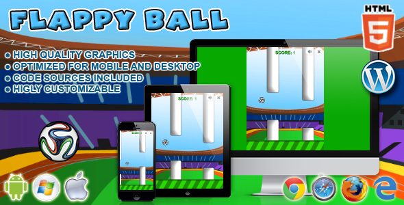 Flappy Ball - HTML5 Game - CodeCanyon Item for Sale