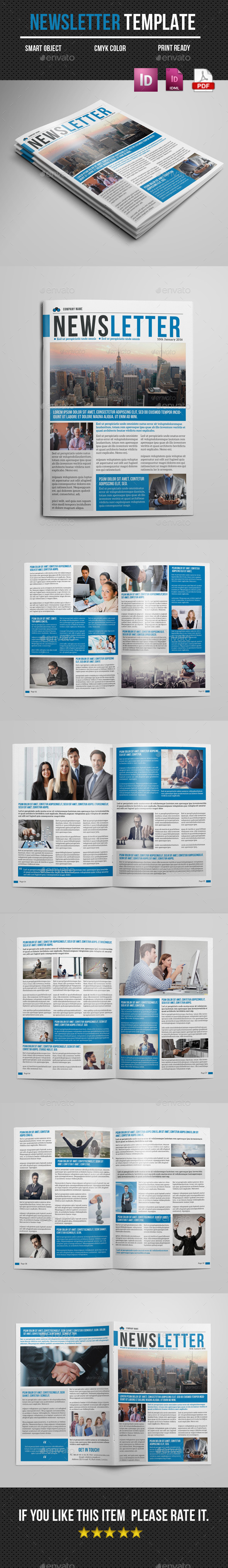 Newsletter Indesign Template - Newsletters Print Templates