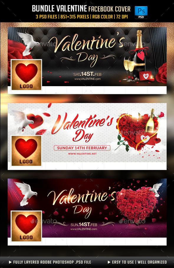 Bundle Valentines Day Facebook Cover - Facebook Timeline Covers Social Media