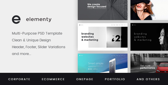 Elementy – Multipurpose PSD Template - Corporate PSD Templates