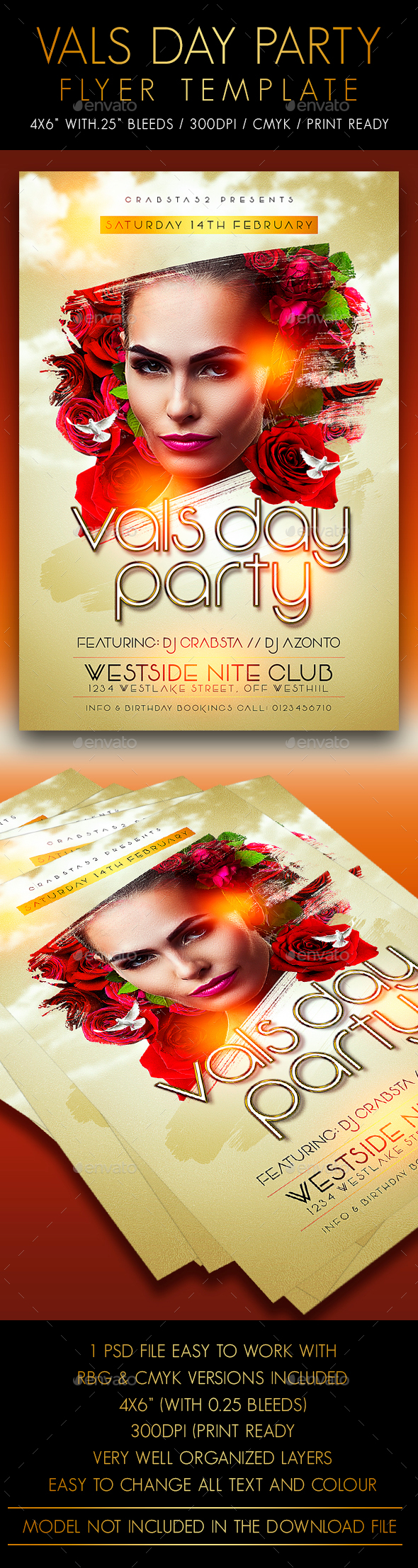 Vals Day Party Flyer Template - Events Flyers