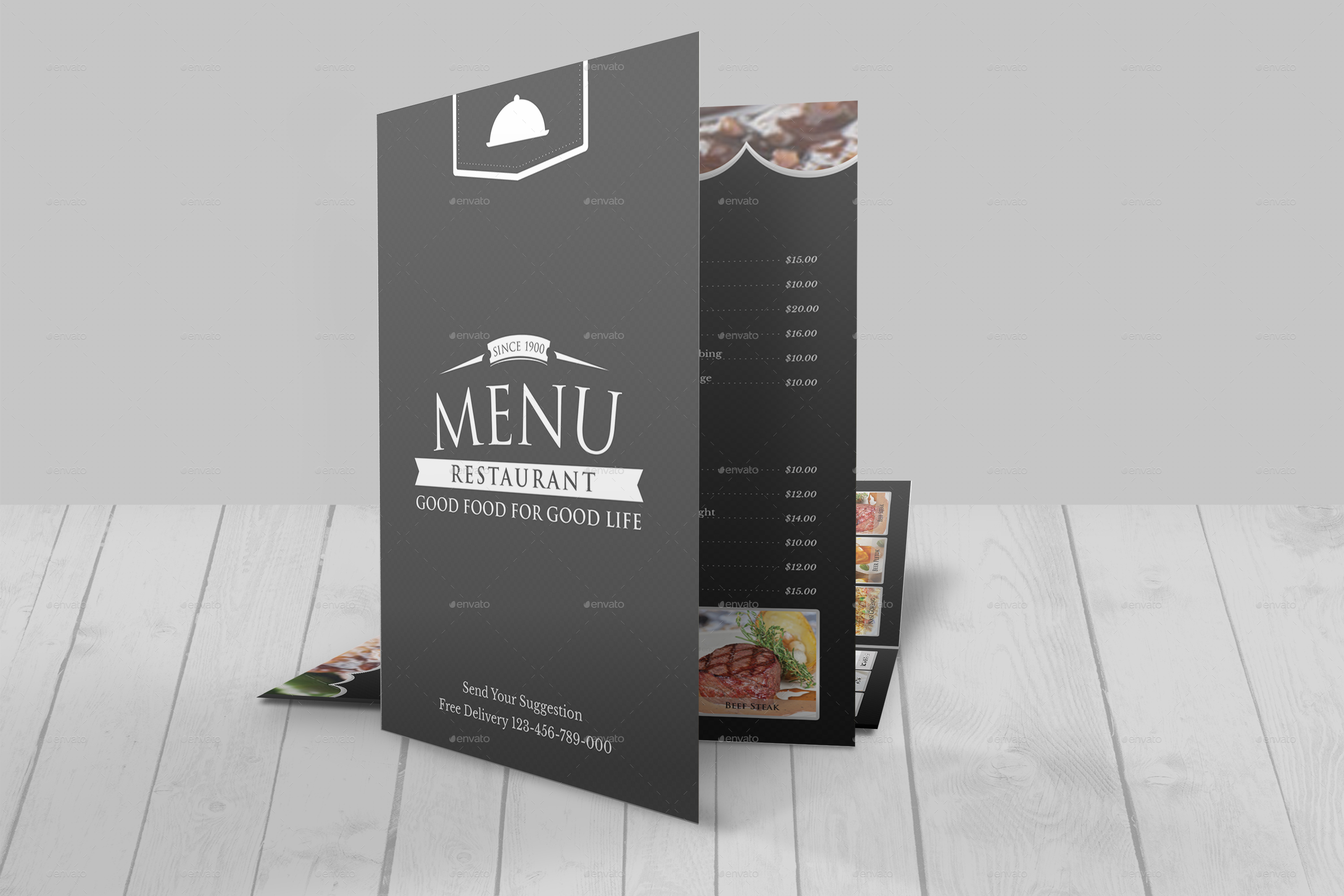 Modern Restaurant Menu Template by Geelator | GraphicRiver