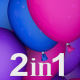 Colorful Balloons Transitions (2-Pack) - VideoHive Item for Sale