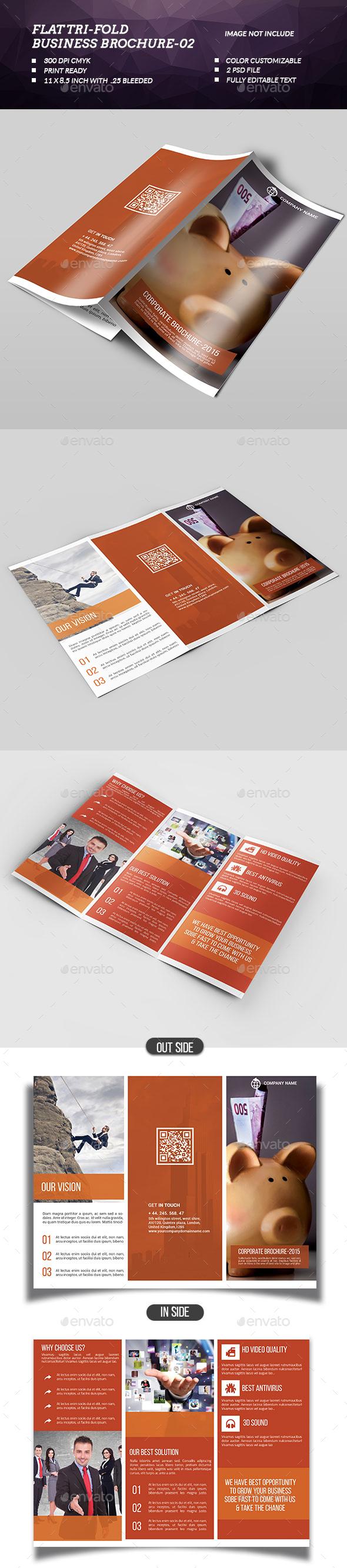 Flat Tri-fold Brochure-02 - Brochures Print Templates