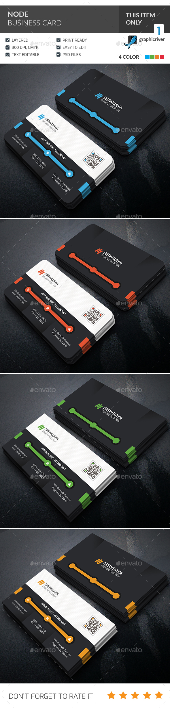 Node Business Card  - Corporate Business Cards