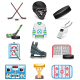 Hockey Icons Set - GraphicRiver Item for Sale