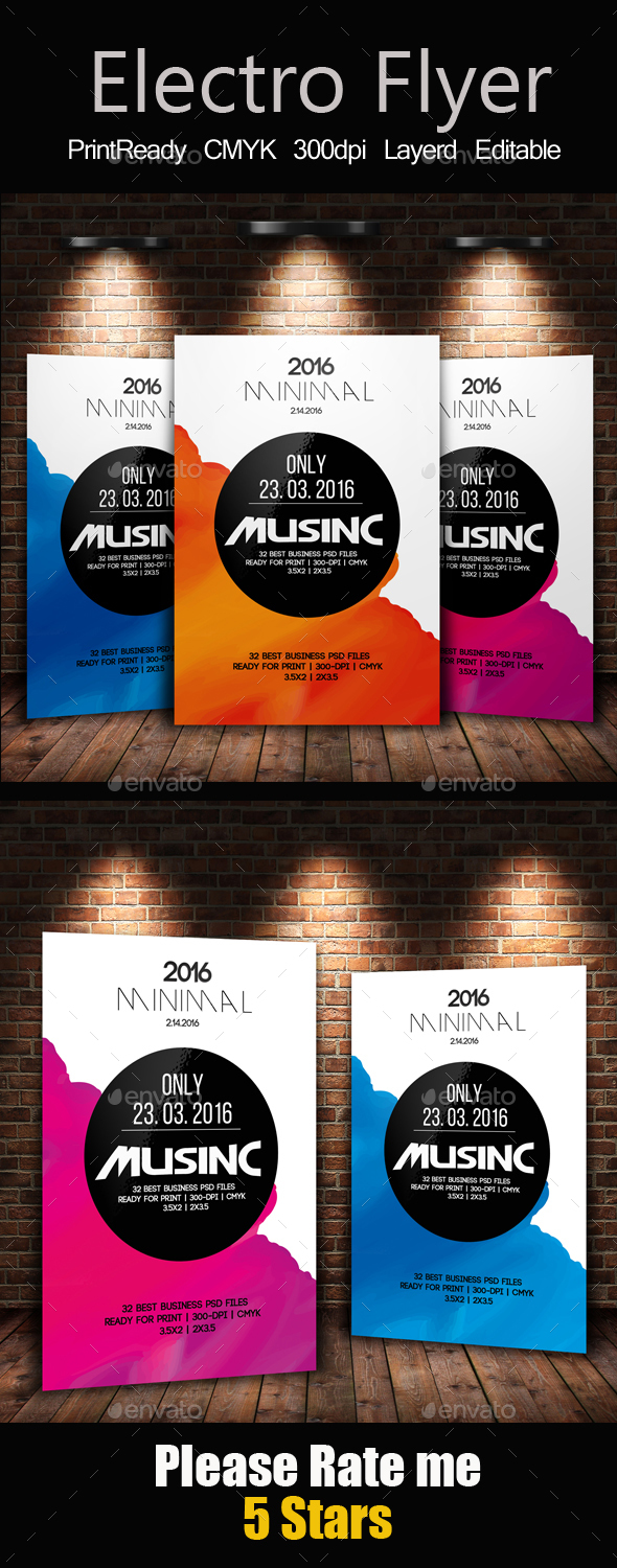 Electro Flyer Template - Clubs & Parties Events