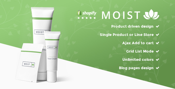 Moist - Single Product Responsive Shopify Theme - Shopify eCommerce