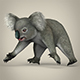 Low Poly Realistic Koala