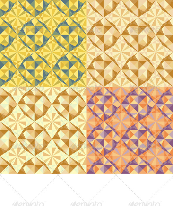 Vector Set Seamless Geometric Pattern - Patterns Decorative