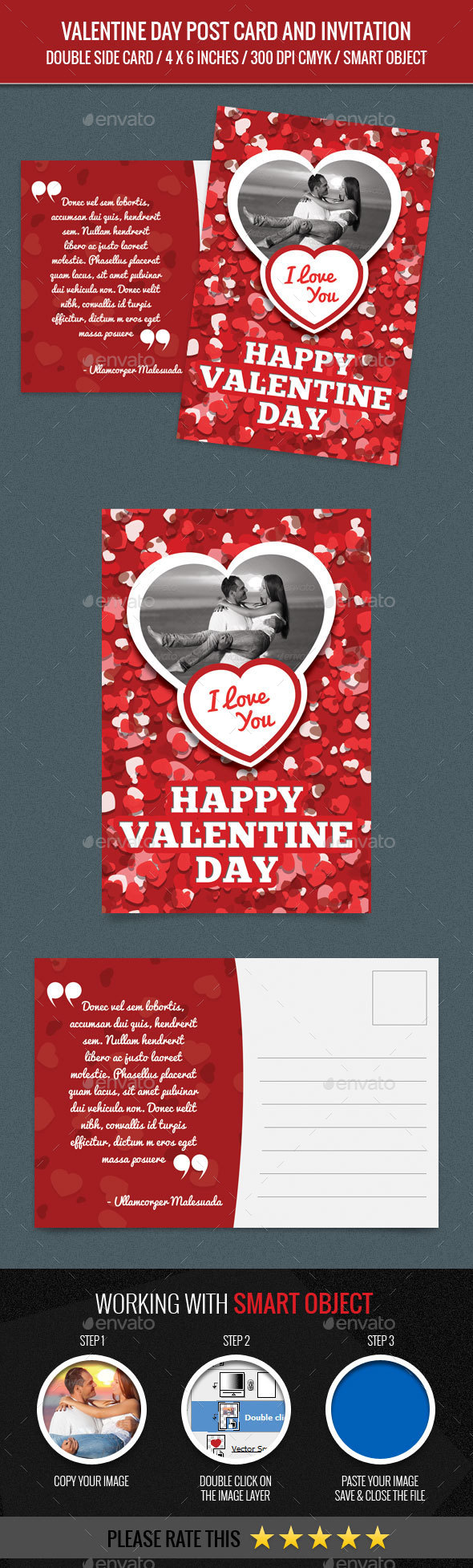 Valentine Day Post Card - Greeting Cards Cards & Invites