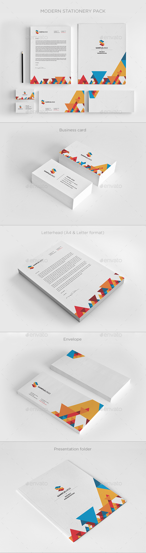 Modern Stationary Pack - Stationery Print Templates