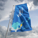 Photorealistic Flag Mock-Up with HQ drapery - GraphicRiver Item for Sale