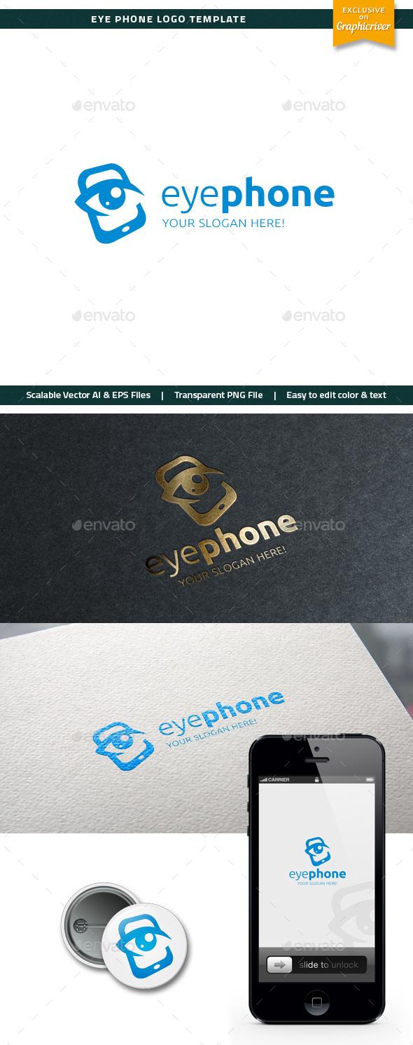 Eye Phone Logo - Objects Logo Templates