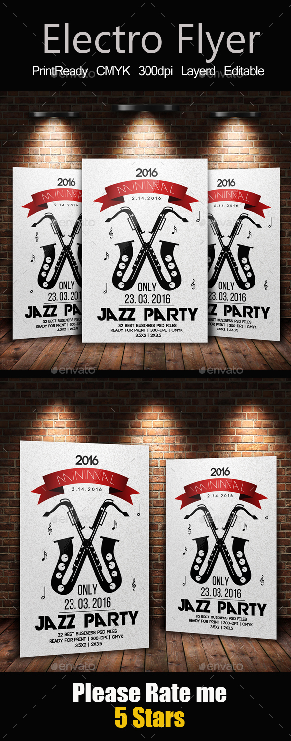 Jazz Flyer & Poster Template - Clubs & Parties Events