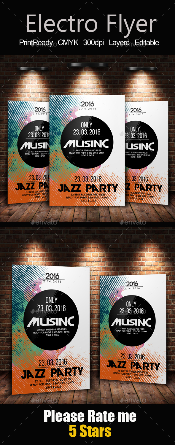 Futuristic Flyer Poster Templates - Clubs & Parties Events