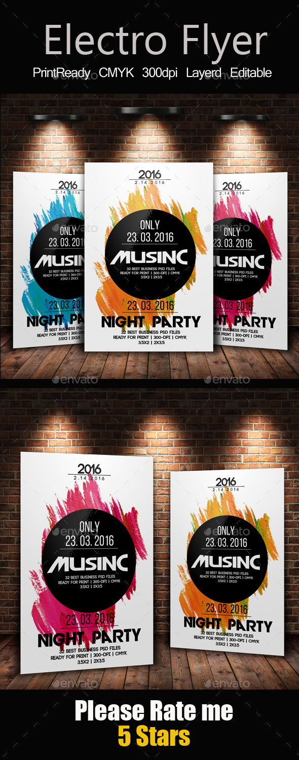 Latest Electro Flyer Template  - Clubs & Parties Events