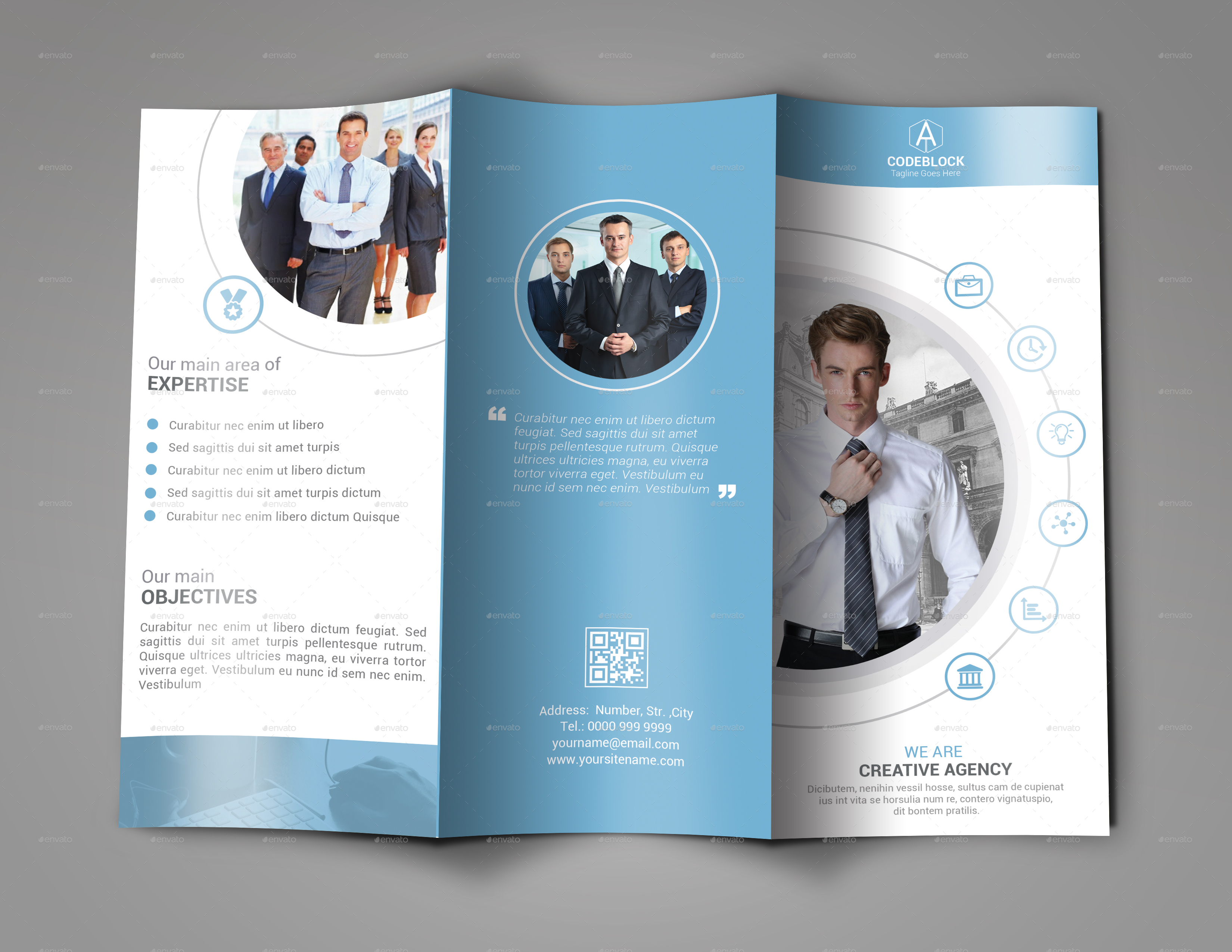 Business Tri-fold Brochure Design by MurtalaWork | GraphicRiver