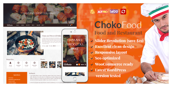 ChokoFood – Food & Restaurant WordPress Theme