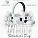White Valentine Day Flyer Template - GraphicRiver Item for Sale