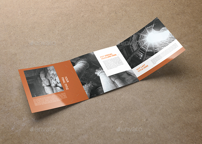 Square Trifold Brochure Template  By Hazemtawfik  Graphicriver