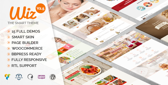 Wiz – The Smart Multi-Purpose WordPress Responsive Theme Business / Creative / bbPress / WooCommerce