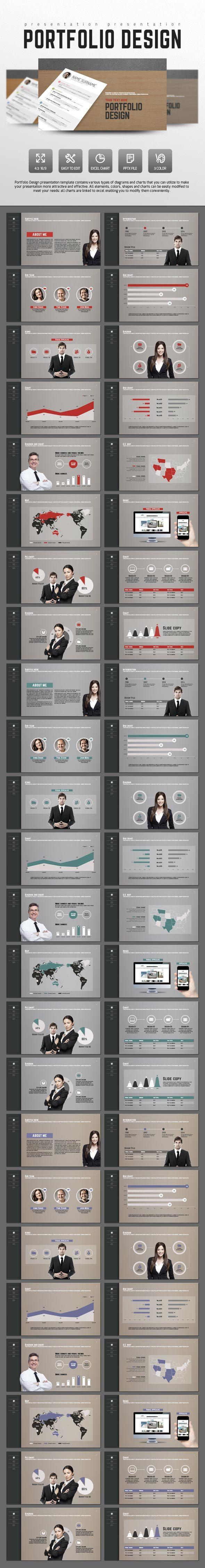 Portfolio Design - PowerPoint Templates Presentation Templates