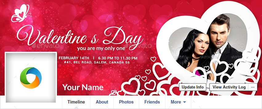 Valentines Day Facebook Covers - 6 Designs