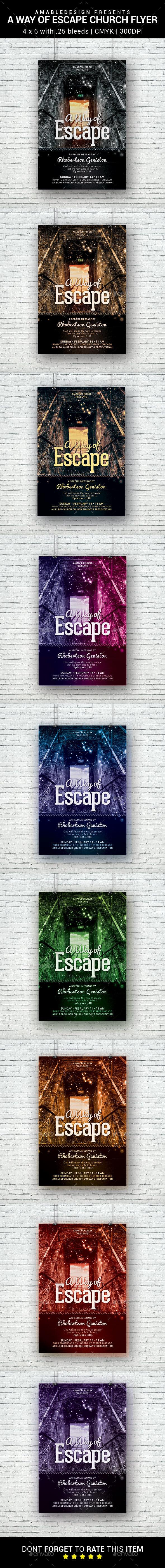 A Way of Escape Church Flyer - Church Flyers